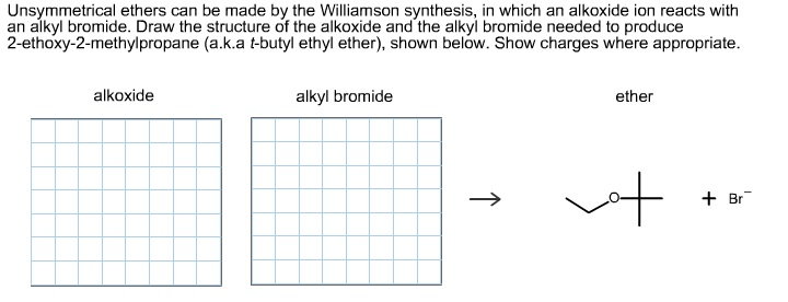 Unsymmetrical ethers can be made by the Williamson