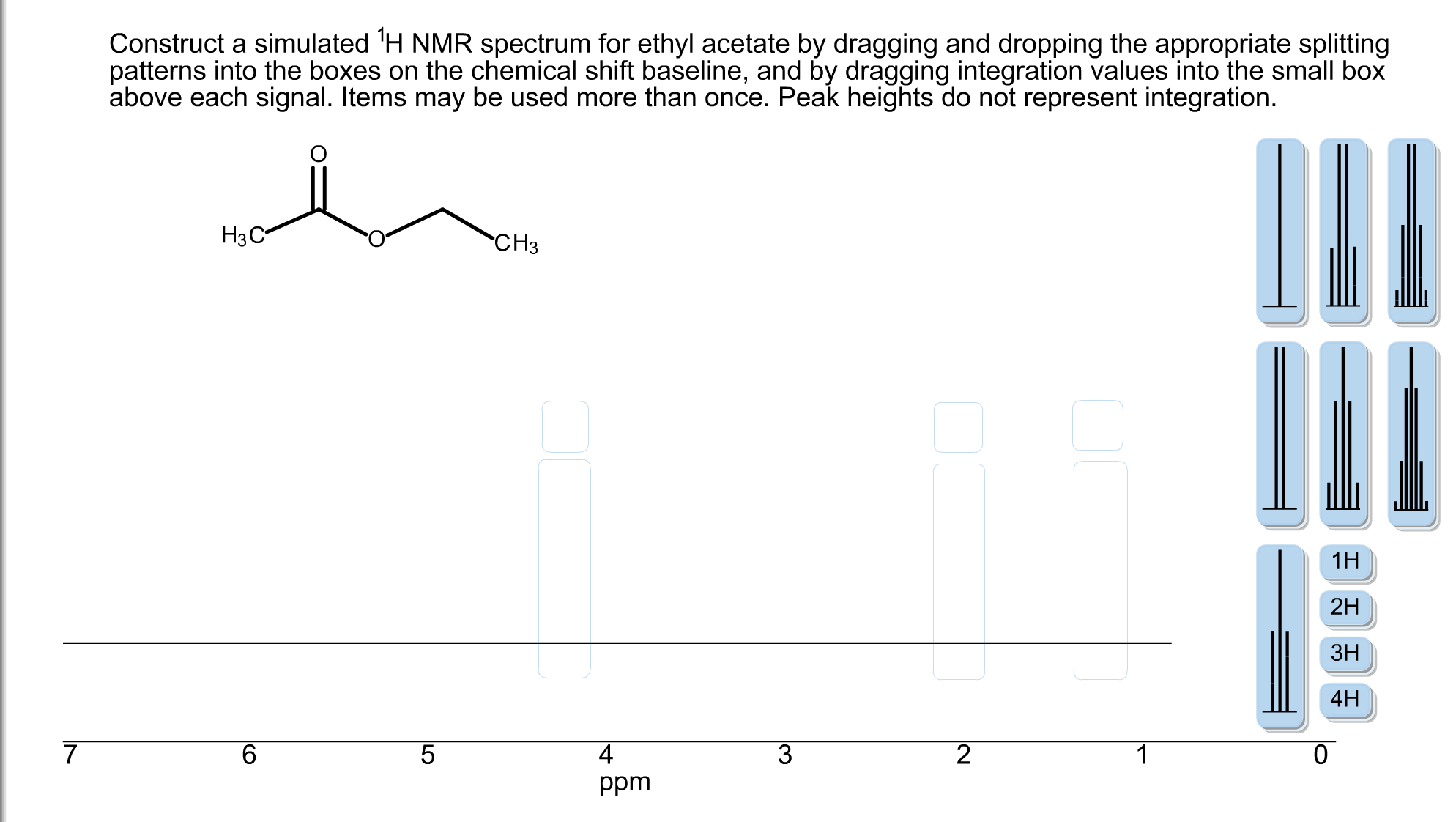 Construct A Simulated 1h Nmr Spectrum For Ethyl Ac