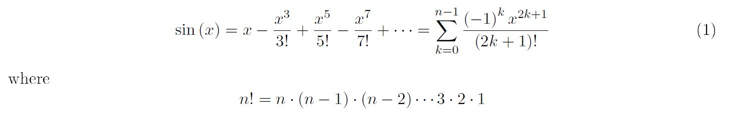 Solved: The Value Of Sin(x) At A Given X Using N Terms Can