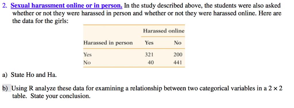 Sexual harassment in college statistics tutor
