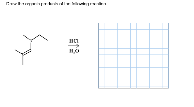 Draw the organic products of the following reactio