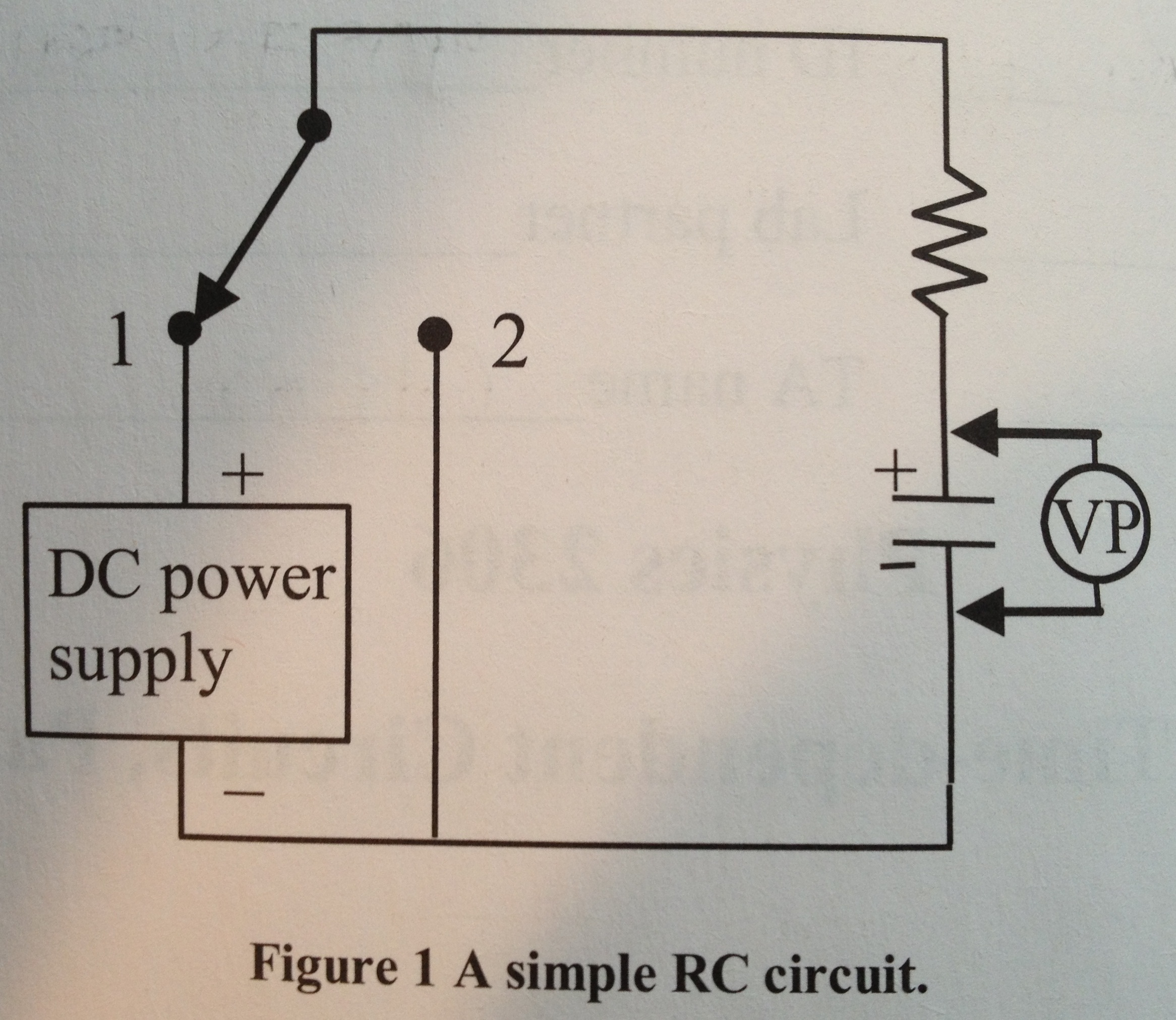 Solved 1consider The Build Up Of Charge On A Capacit Simple Dc Power Supply Schematicpng Best Answer