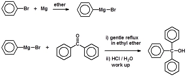 grignard synthesis of triphenylmethanol lab report View lab report - chm238 grignard reaction lab report final from chemistry 234 at arizona state university synthesis of triphenylmethanol using a grignard reaction elizabeth miller erickson partner.