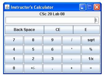Use Java GUI Widget Toolkit To Develop A GUI Inter    | Chegg com