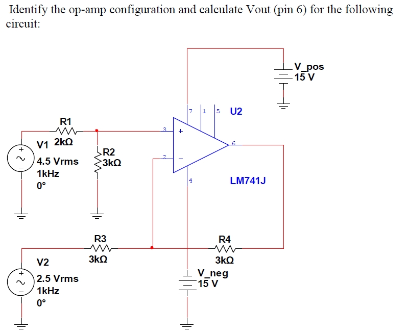 Identify the op-amp configuration and calculate Vo