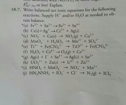 write ionic and net ionic equations for the following reactions