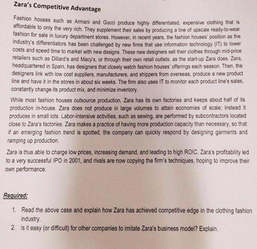 ZARA Harvard Case Solution & Analysis