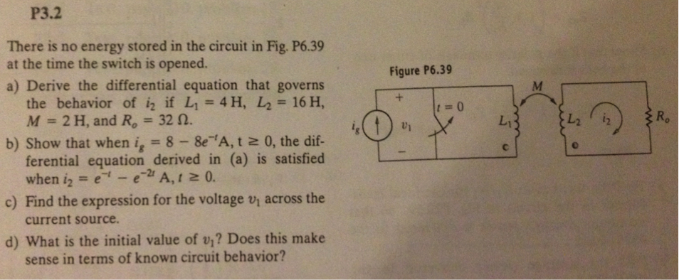 There is no energy stored in the circuit in Fig.