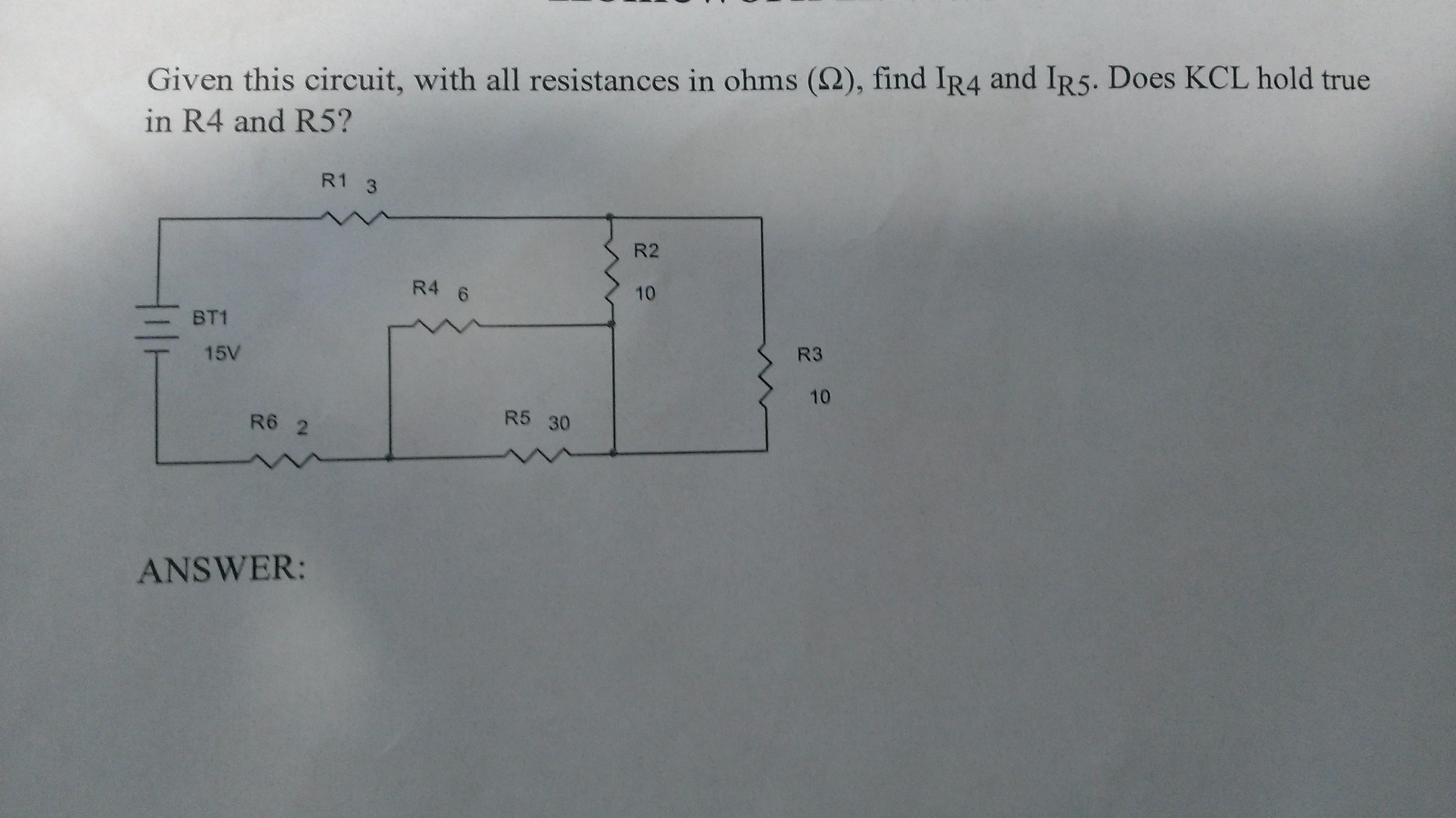 Given this circuit, with all resistances in Ohm s