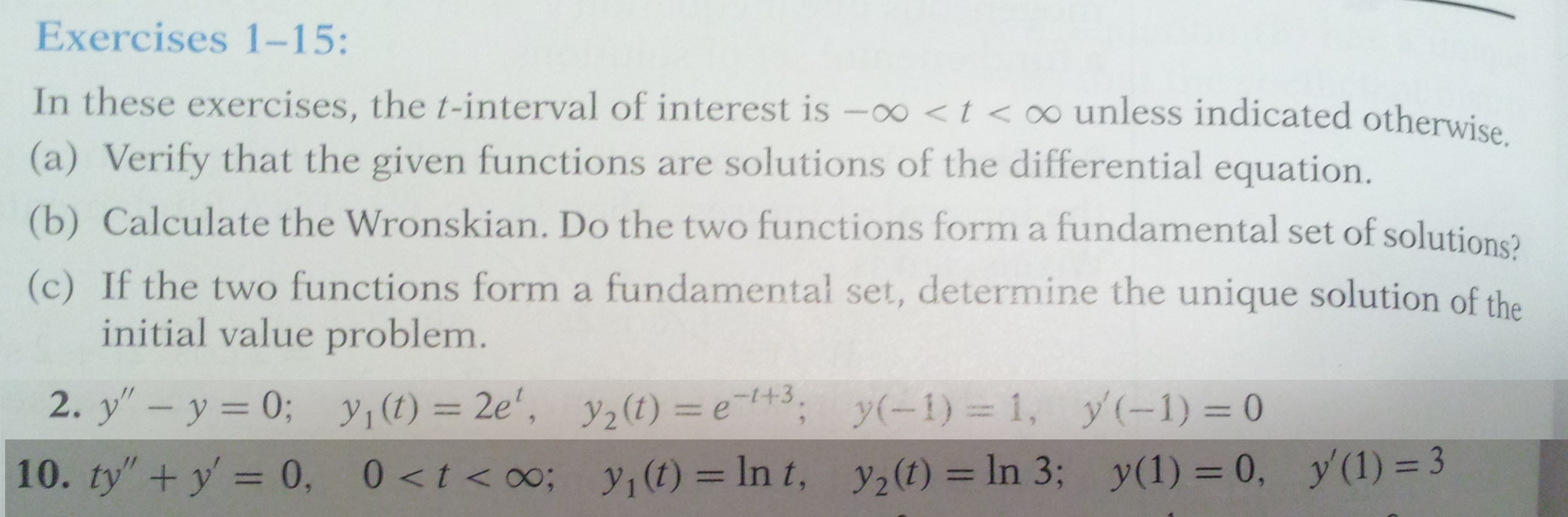 Elementary Differential Equations with Boundary Va