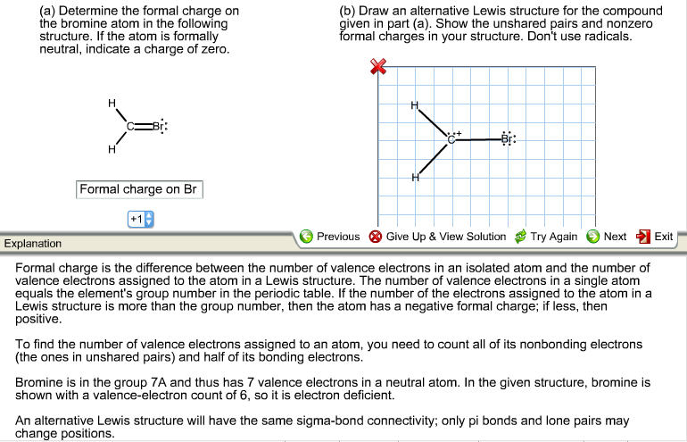 Solved Determine The Formal Charge On The Bromine Atom In