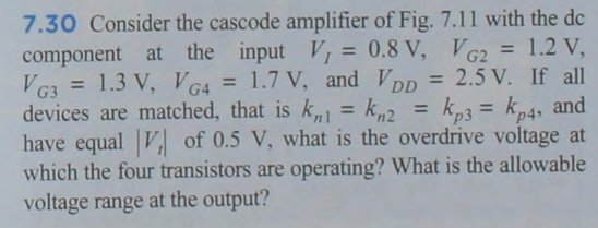 A cascode amplifier with a cascode Consider the c