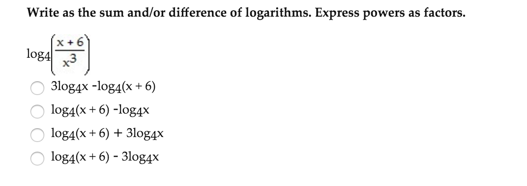 sum and difference of logarithms calculator