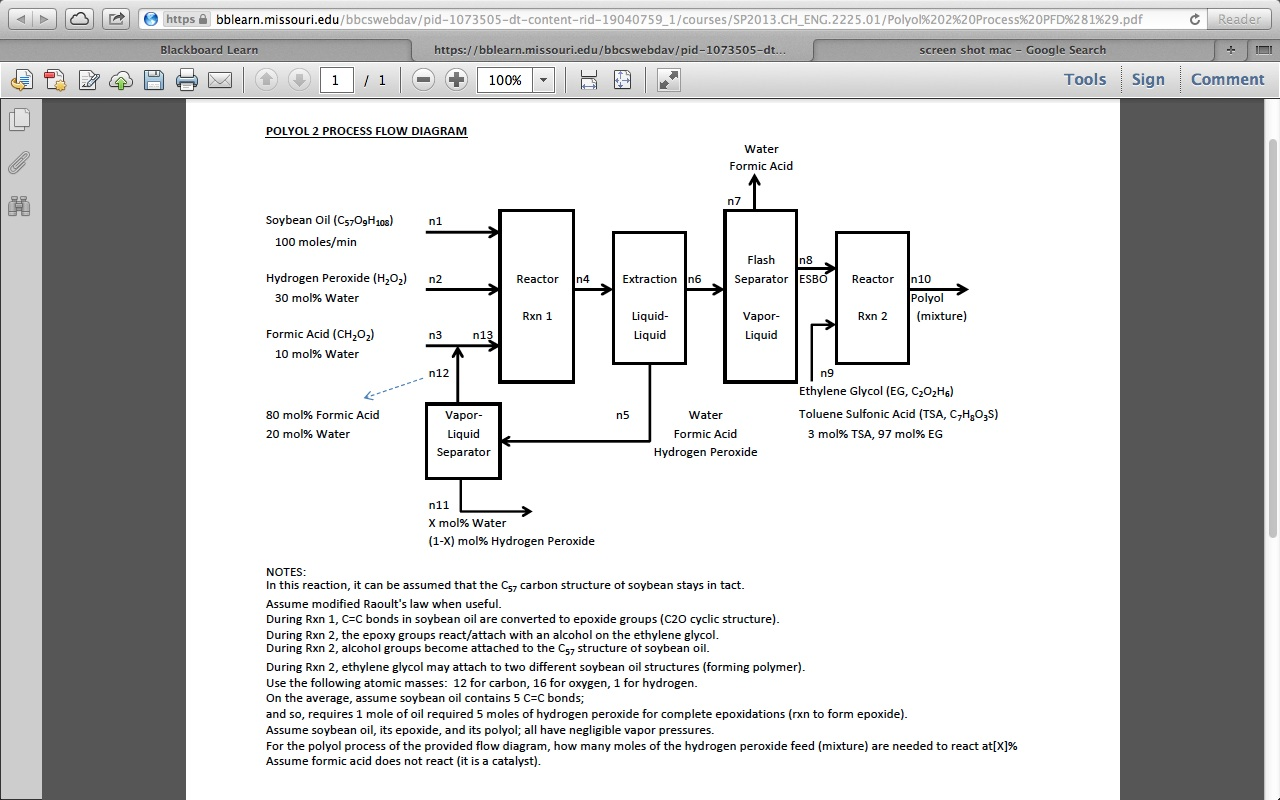 For The Polyol Process Of Provided Flow Diagra Block Diagram