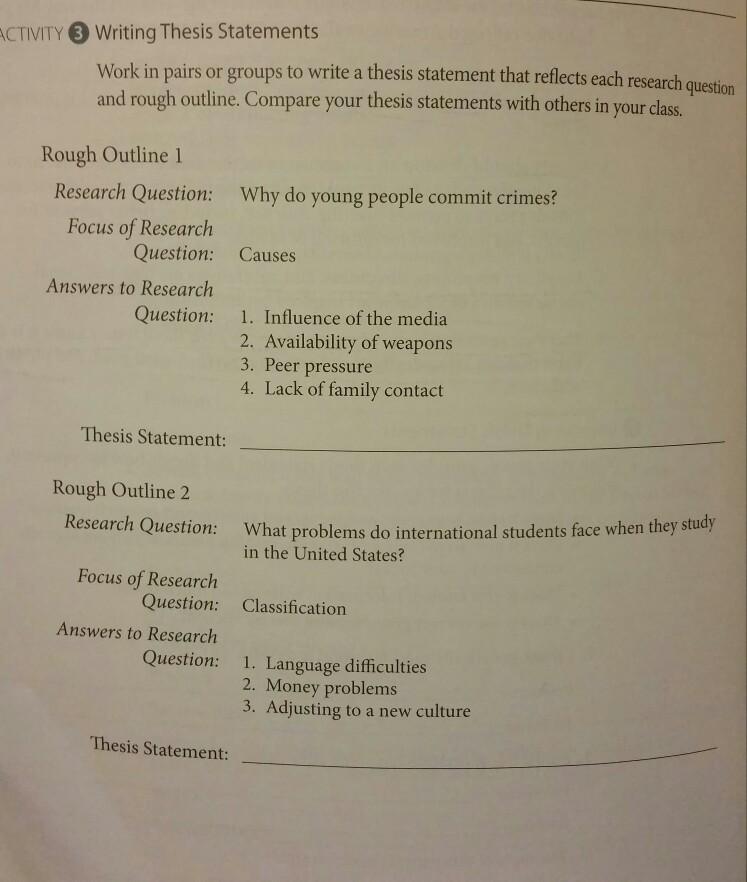 peer pressure research paper outline
