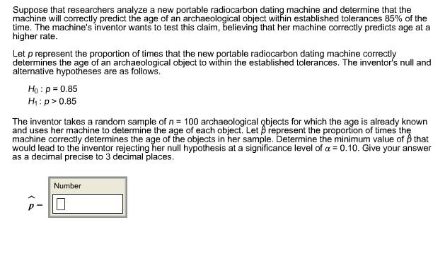 Minimum age carbon dating