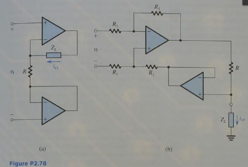 The two circuits in Fig. P2.78 are intended to fun