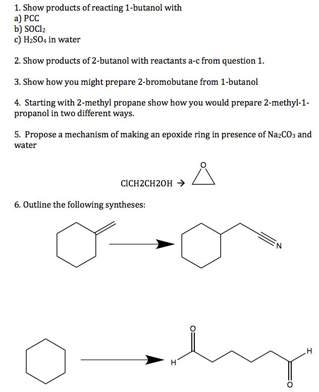 1 bromobutane from 1 butanol