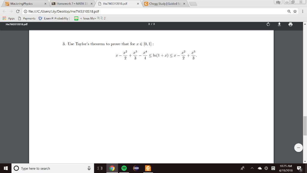 Taylors Theorem Pdf