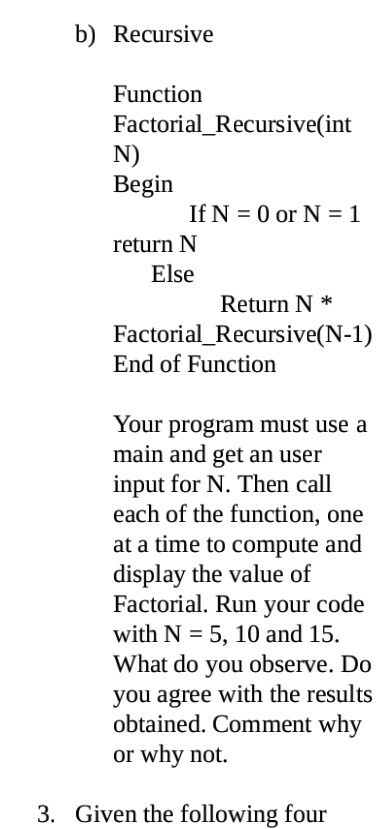 Write a program in lisp to calculate factorial with the help of recursive function