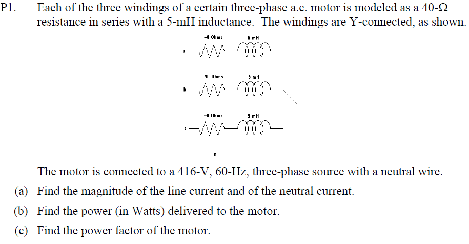 3 phase ac motor wiring solved each of the three windings of a certain three phas  solved each of the three windings of a