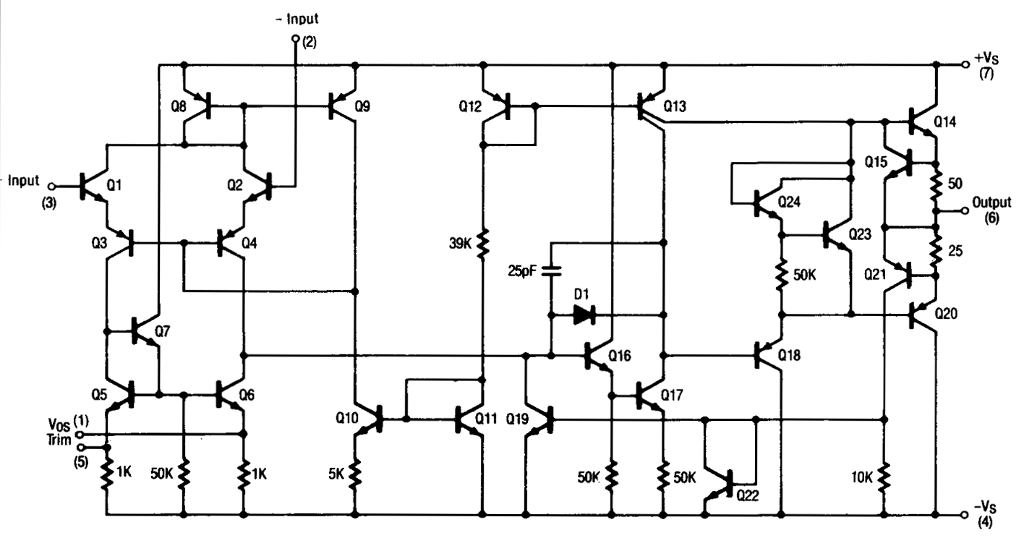 this is the ua741 op amp internal circuit  find th