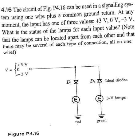 The circuit of Fig. P4.16 can be used in a signali