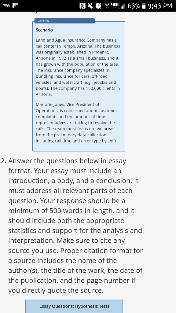provide math essay questions