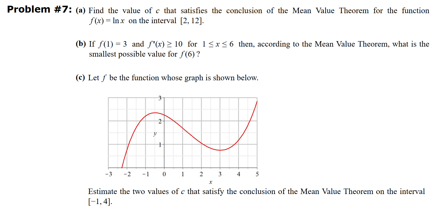 Mean Value Theorem Calculator
