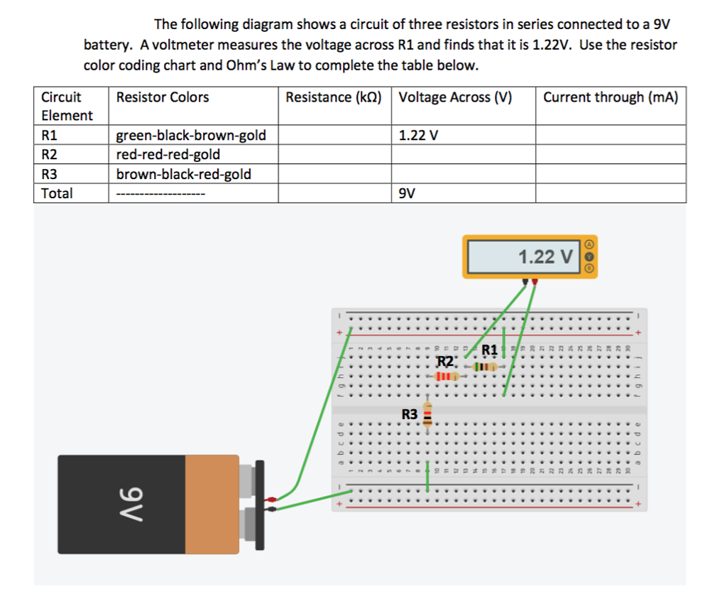 solved: the following diagram shows a circuit of three res ... schematics in series wiring diagram