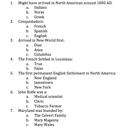 History answers