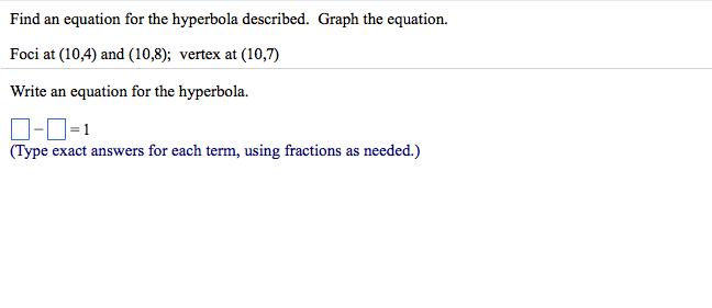 10-4 problem solving hyperbolas