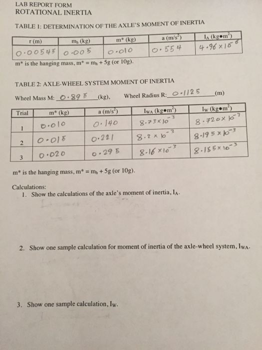 Acceleration of a Wheel and Axle