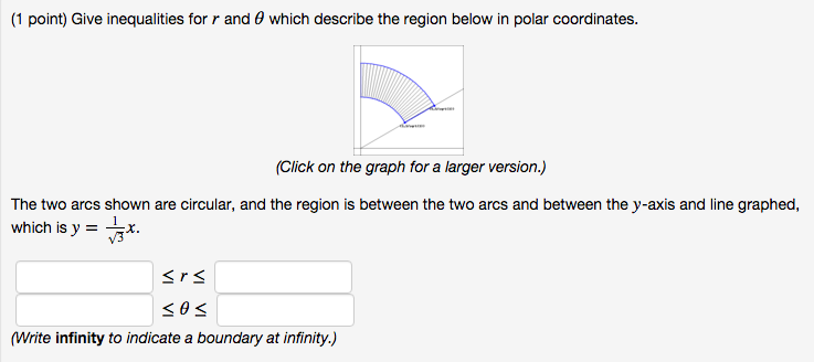 write an inequality that describes the graph below models