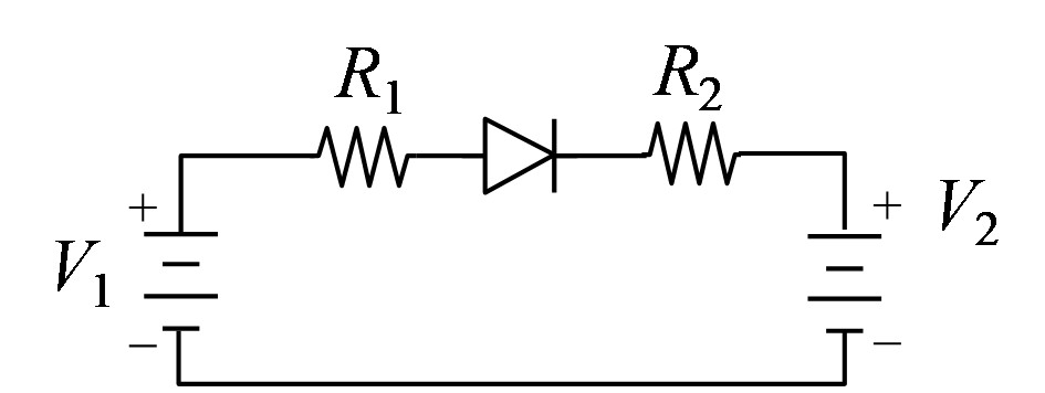Given the following circuit, in which R1 = 200 ?,