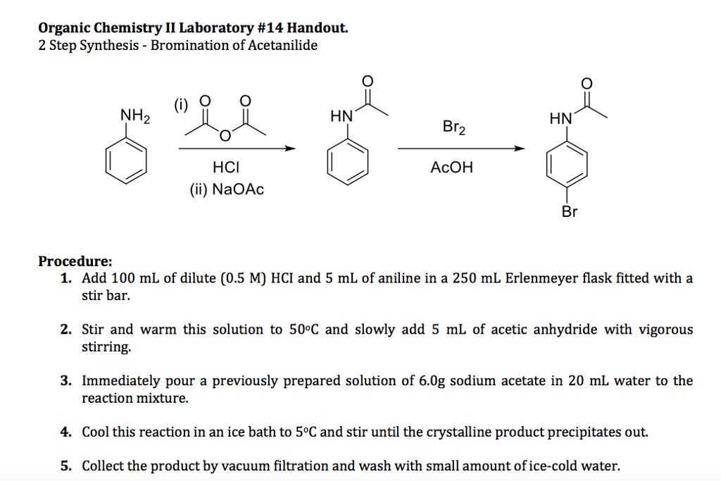 to study the bromination of acetanilide aniline and anisole