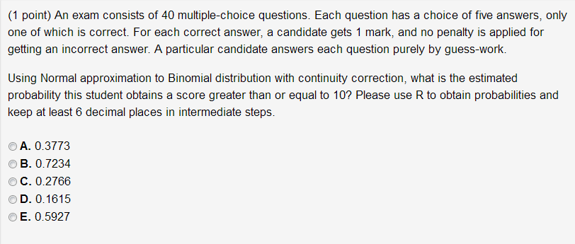 Steps in candidating questions