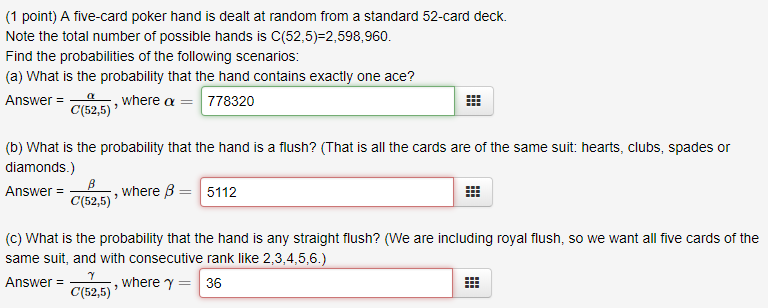 Possible poker hands 52-card deck best online gambling sites yahoo answers