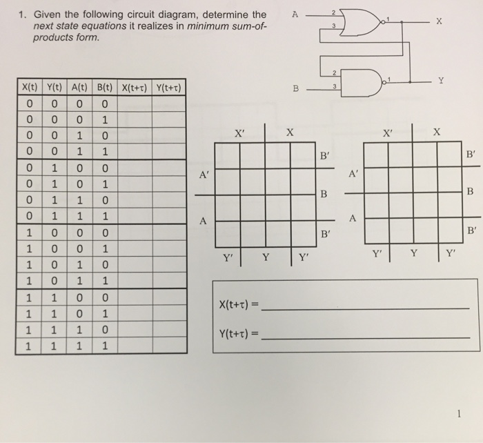 Solved  Given The Following Circuit Diagram  Determine The