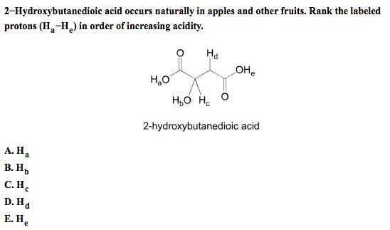 2-Hydroxybutanedioic acid occurs naturally in appl