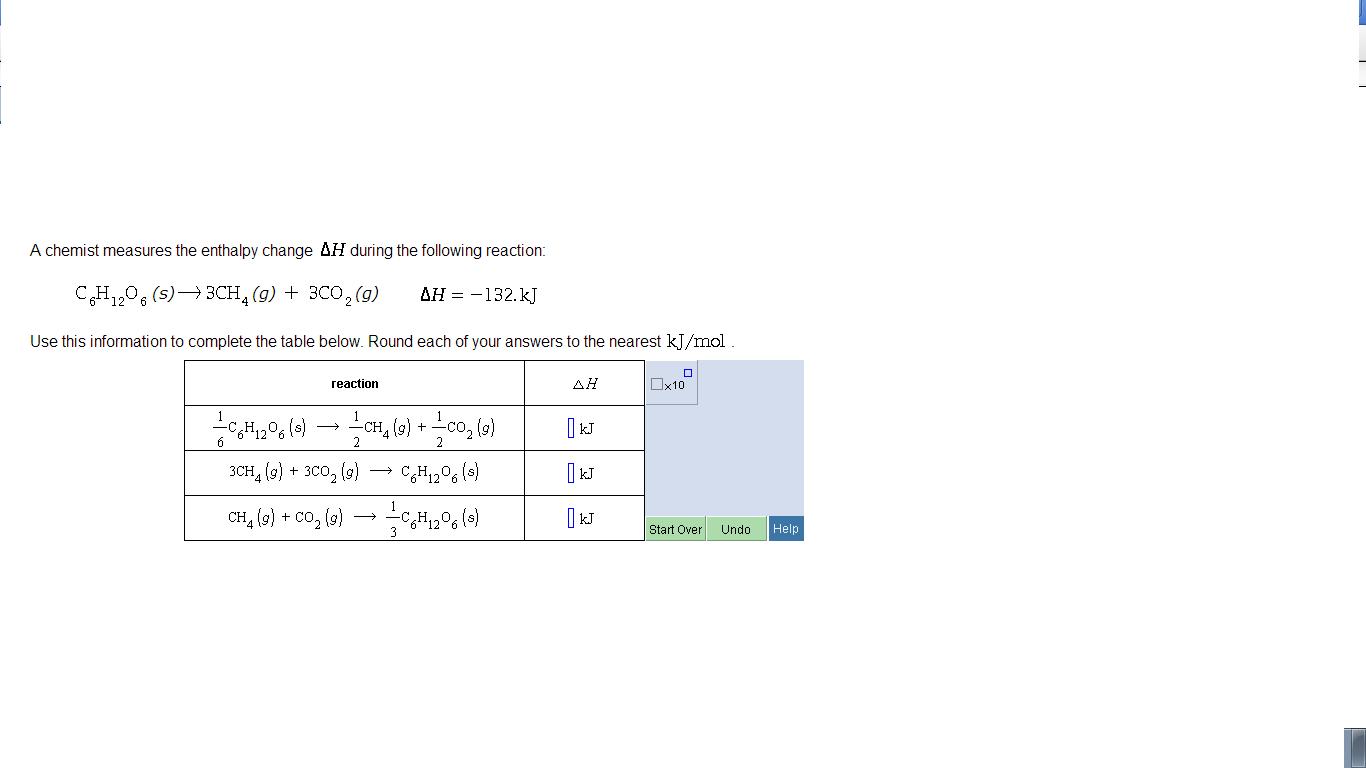 A chemist measures the enthalpy change delta h dur for Delta s table chemistry