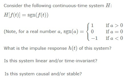 Consider the following continuous-time system H|f(