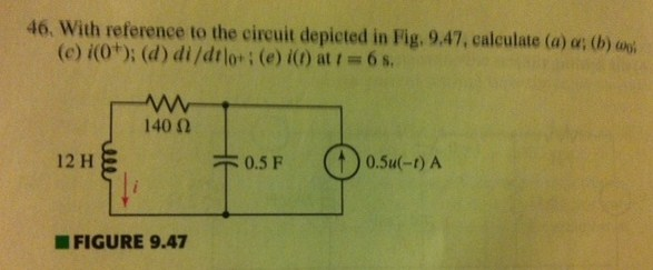 With reference to the circuit depicted in fig. 9.4