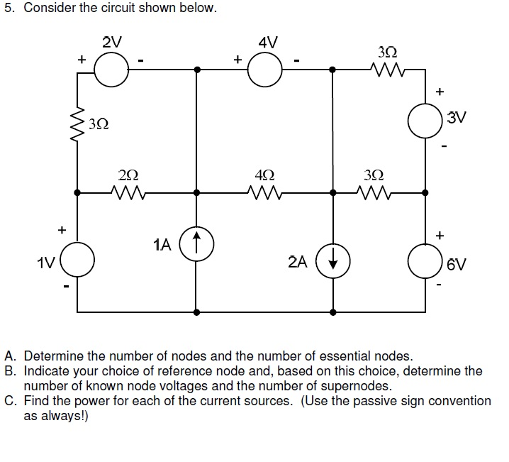 Consider the circuit shown below. Determine the n