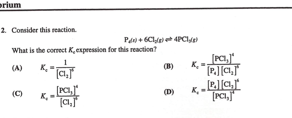what is the relationship between kp and kc for following reaction ch3oh