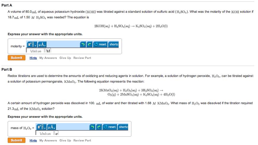 Standardization of sodium hydroxide solution using oxalic acid.