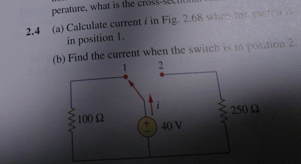Calculate current i in Fig. 2.68