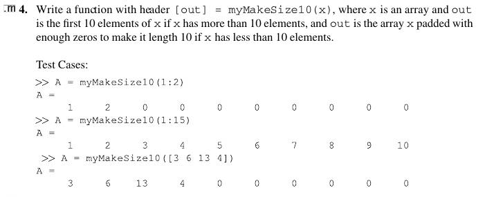 write an array in matlab
