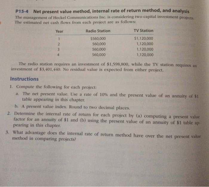 net present value and internal rate of return relationship
