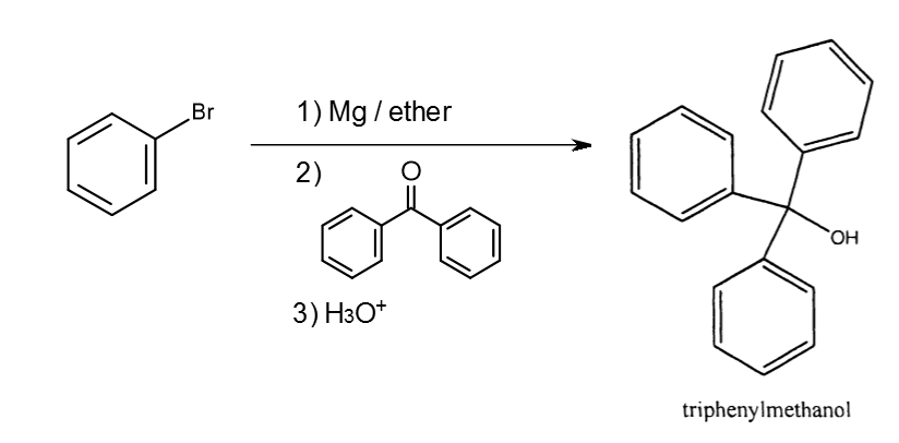 synthesis of triphenylmethanol from methyl benzoate